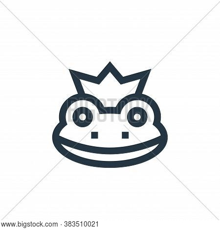 frog icon isolated on white background from fairytale collection. frog icon trendy and modern frog s