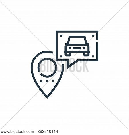 location icon isolated on white background from driving school collection. location icon trendy and