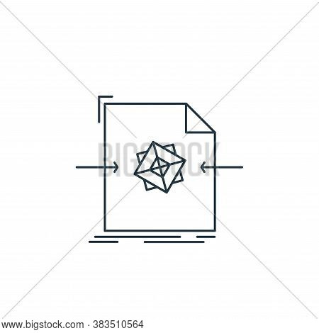 three dimensional icon isolated on white background from d printing and communication collection. th