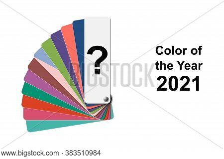 Choice Trend Color Of The Year 2021 Concept, Fanned Colour Palette Sample Swatch Book Guide, Stock V