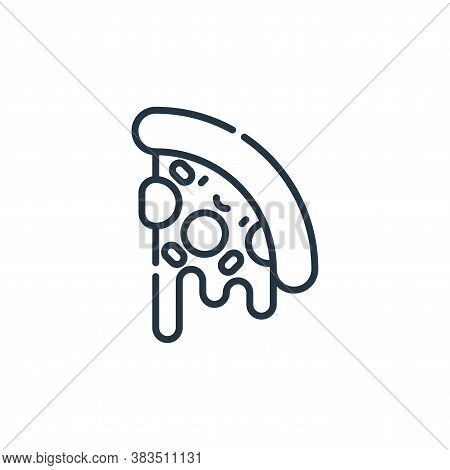 pizza icon isolated on white background from party and celebration collection. pizza icon trendy and