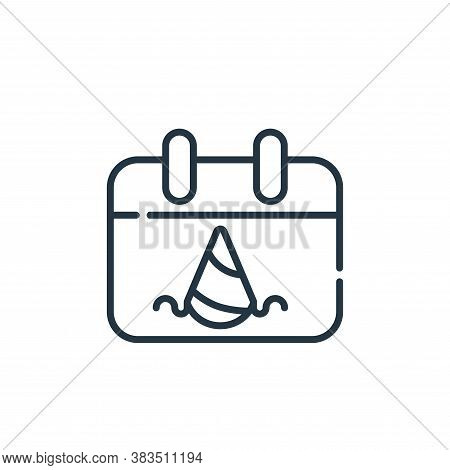 party icon isolated on white background from party and celebration collection. party icon trendy and