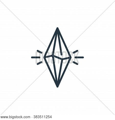 crystal icon isolated on white background from fairytale collection. crystal icon trendy and modern