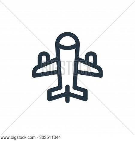 airplane icon isolated on white background from public transportation collection. airplane icon tren