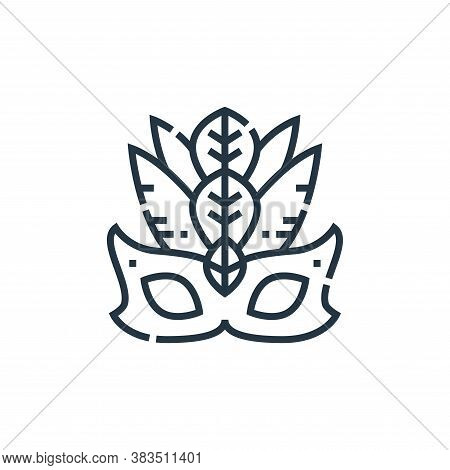 carnival icon isolated on white background from brazilian carnival collection. carnival icon trendy