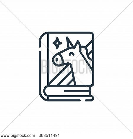 fairy tale icon isolated on white background from books and literature collection. fairy tale icon t
