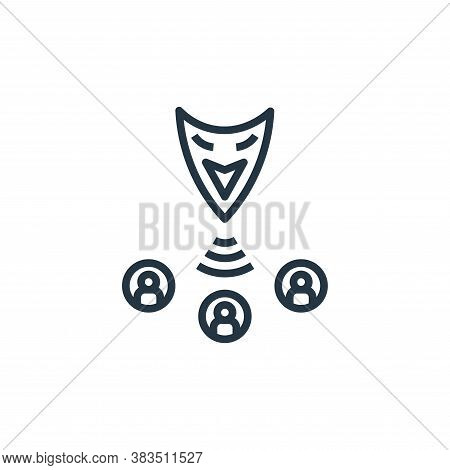 fraud icon isolated on white background from detecting fake news collection. fraud icon trendy and m