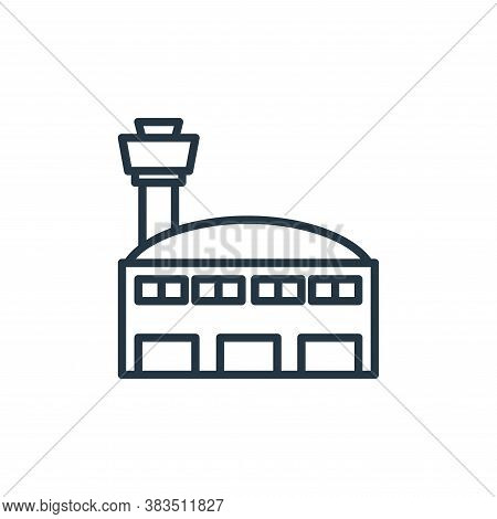airport icon isolated on white background from building collection. airport icon trendy and modern a