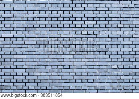A Cerulean Blue Colored Brick Wall Background