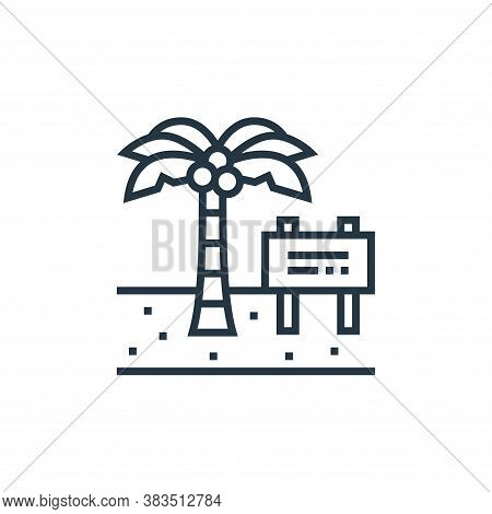beach icon isolated on white background from brazilian carnival collection. beach icon trendy and mo