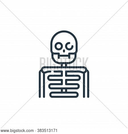 skeleton icon isolated on white background from fairytale collection. skeleton icon trendy and moder