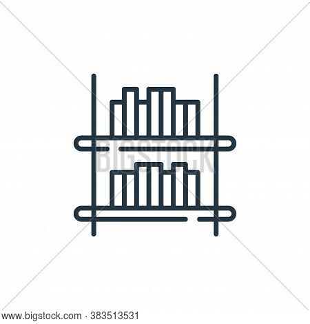 shelving icon isolated on white background from books and literature collection. shelving icon trend