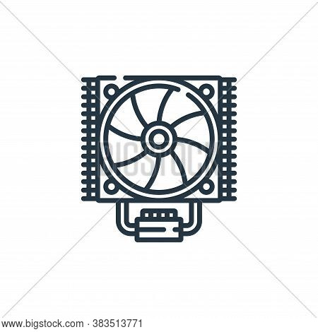 fan icon isolated on white background from hardware collection. fan icon trendy and modern fan symbo