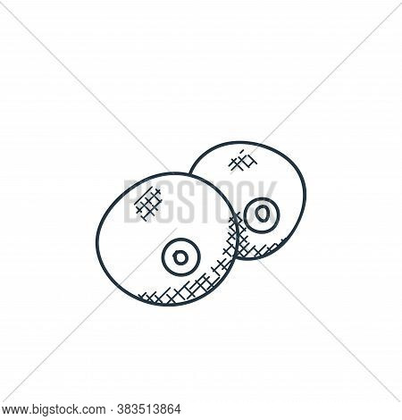 orange icon isolated on white background from food hand drawn collection. orange icon trendy and mod