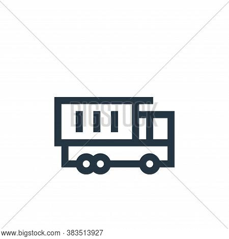 dump truck icon isolated on white background from machinery collection. dump truck icon trendy and m