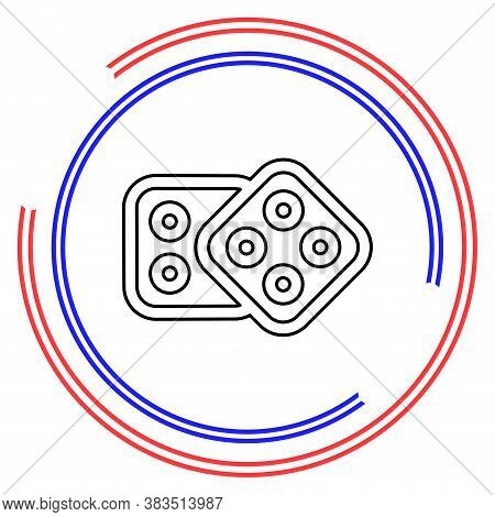 Dices Icon. Casino Game Icon - Casino Game Illustration - Dices Isolated. Thin Line Pictogram - Outl