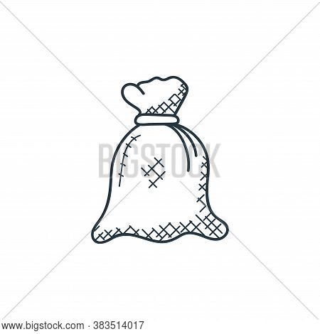 wheat sack icon isolated on white background from food hand drawn collection. wheat sack icon trendy