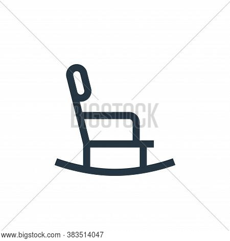 rocking chair icon isolated on white background from nursing collection. rocking chair icon trendy a