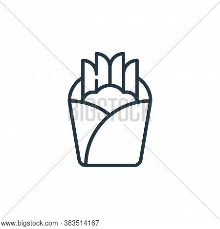 french fries icon isolated on white background from holland collection. french fries icon trendy and