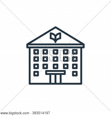 library icon isolated on white background from building collection. library icon trendy and modern l