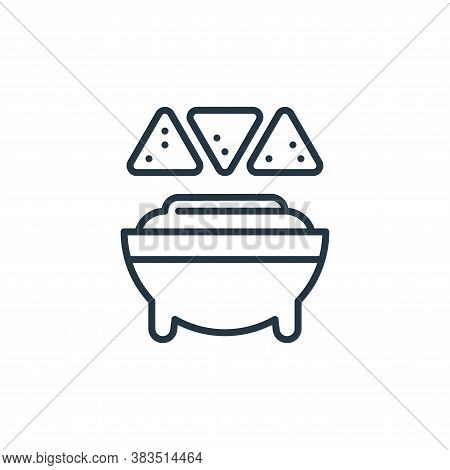guacamole icon isolated on white background from cinco de mayo collection. guacamole icon trendy and