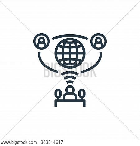 public icon isolated on white background from detecting fake news collection. public icon trendy and