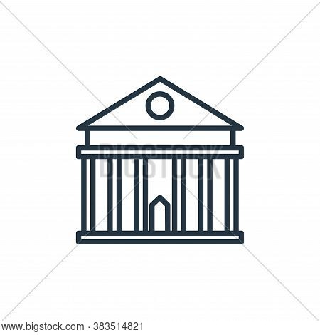 government building icon isolated on white background from building collection. government building