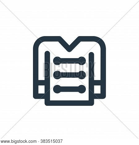 uniform icon isolated on white background from carnival and amusement collection. uniform icon trend