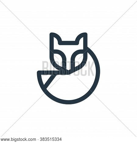 fox icon isolated on white background from animal and nature collection. fox icon trendy and modern