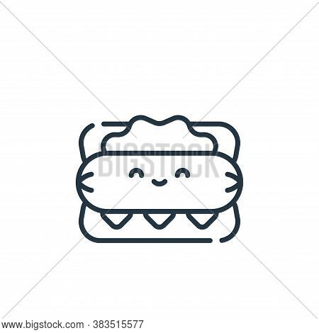 hot dog icon isolated on white background from baseball collection. hot dog icon trendy and modern h
