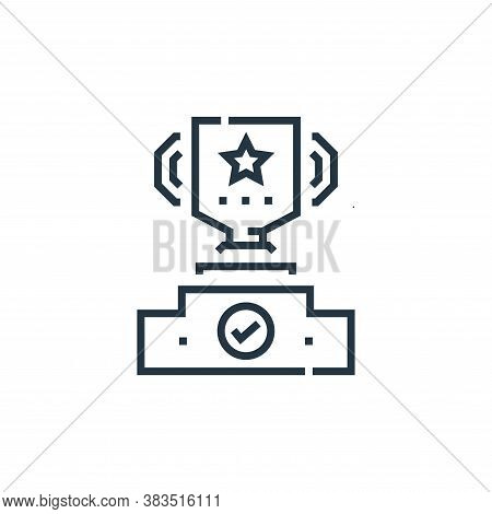 winner icon isolated on white background from voting elections collection. winner icon trendy and mo