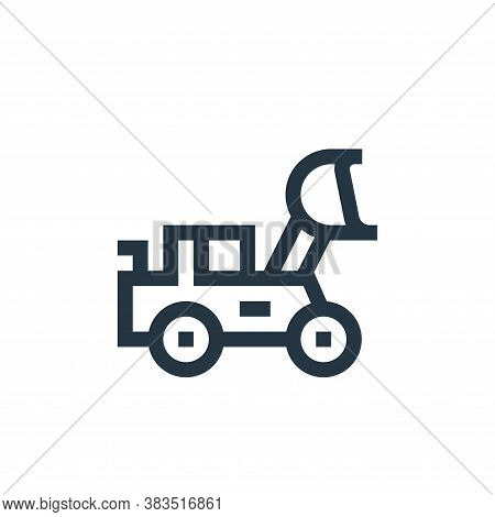 loader icon isolated on white background from machinery collection. loader icon trendy and modern lo