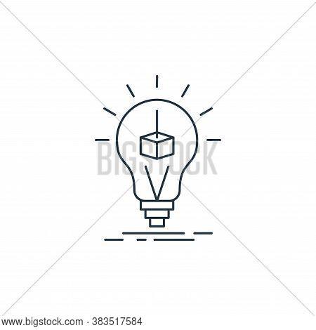 idea icon isolated on white background from d printing and communication collection. idea icon trend
