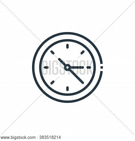 clock icon isolated on white background from furniture collection. clock icon trendy and modern cloc