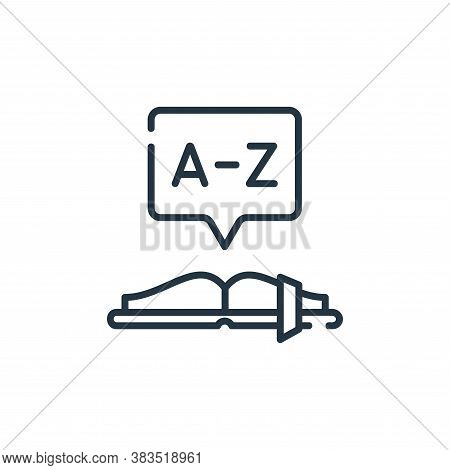 dictionary icon isolated on white background from books and literature collection. dictionary icon t