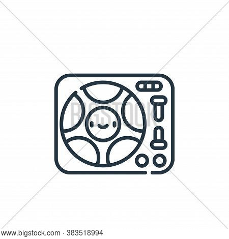turntable icon isolated on white background from party and celebration collection. turntable icon tr