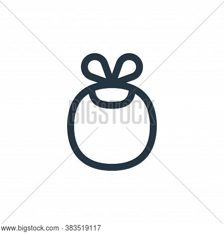 baby bib icon isolated on white background from nursing collection. baby bib icon trendy and modern