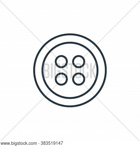 button icon isolated on white background from sewing collection. button icon trendy and modern butto