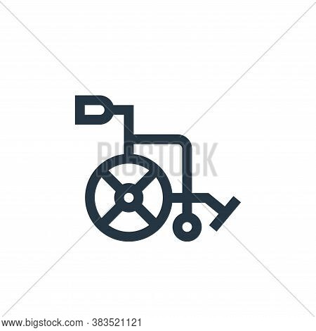 wheelchair icon isolated on white background from nursing collection. wheelchair icon trendy and mod