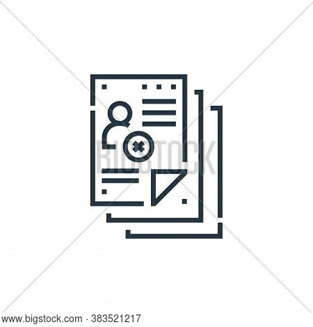 document icon isolated on white background from voting elections collection. document icon trendy an