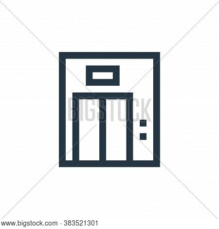 elevator icon isolated on white background from machinery collection. elevator icon trendy and moder