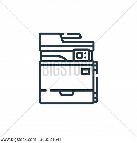 printer icon isolated on white background from hardware collection. printer icon trendy and modern p