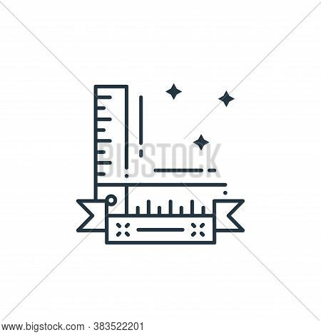 measurement icon isolated on white background from labor day collection. measurement icon trendy and