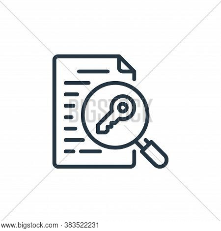 keyword icon isolated on white background from seo and marketing collection. keyword icon trendy and
