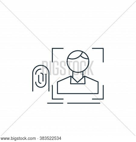 facial recognition icon isolated on white background from analytic investment and balanced scorecard