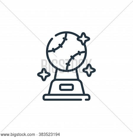 trophy icon isolated on white background from baseball collection. trophy icon trendy and modern tro
