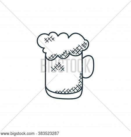 beer mug icon isolated on white background from food hand drawn collection. beer mug icon trendy and