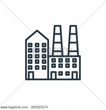 factory icon isolated on white background from building collection. factory icon trendy and modern f