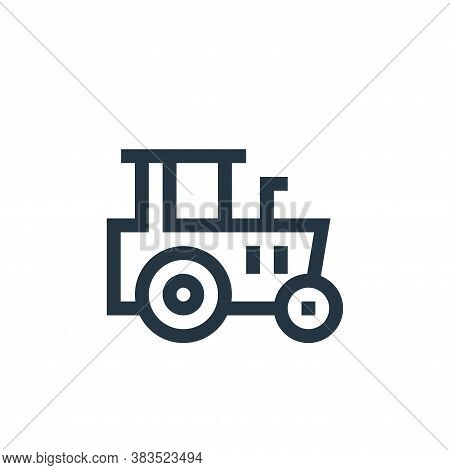 tractor icon isolated on white background from machinery collection. tractor icon trendy and modern