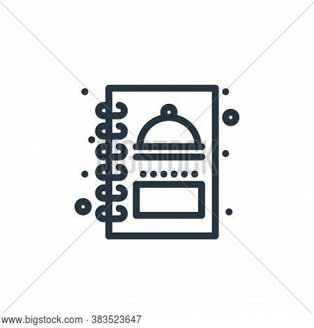 menu icon isolated on white background from food collection. menu icon trendy and modern menu symbol